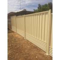 Tiger Colourbond Panel with Retainer and Lattice